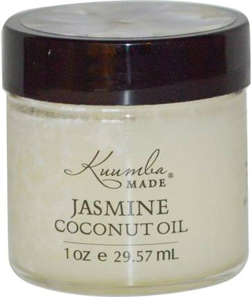 Jasmine Coconut Oil, 1 oz (29.57 ml) by Kuumba Made, 沐浴,美容,椰子油皮 HK 香港