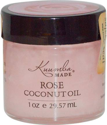 Rose Coconut Oil, 1 oz (29.57 ml) by Kuumba Made, 沐浴,美容,椰子油皮 HK 香港