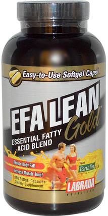 EFA Lean Gold, Essential Fatty Acid Blend, 180 Softgel Capsules by Labrada Nutrition, 補充劑,efa omega 3 6 9(epa dha),cla(共軛亞油酸) HK 香港