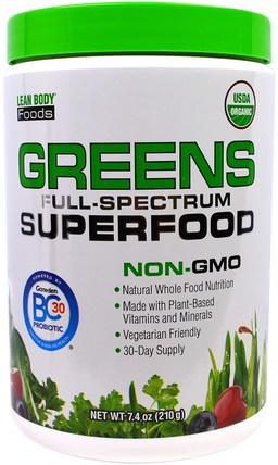 Labrada Nutrition, Lean Body Foods, Greens Full-Spectrum Superfood, 7.4 oz (210 g) 補品,超級食品