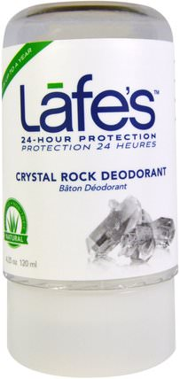 Crystal Rock Deodorant, 4.25 oz (120 ml) by Lafes Natural Body Care, 洗澡,美容,除臭劑 HK 香港