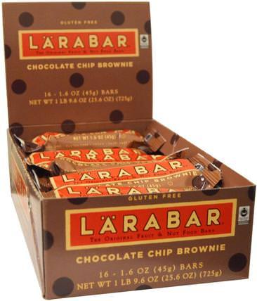 Chocolate Chip Brownie, 16 Bars, 1.6 oz (45 g) Each by Larabar, larabar,食物,健康零食,營養棒 HK 香港