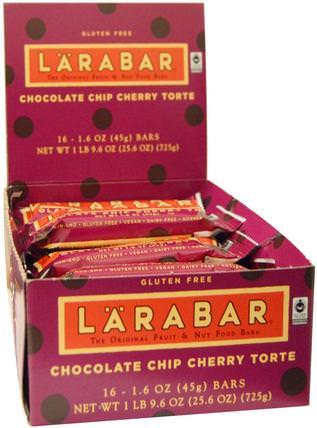 Larabar, Chocolate Chip Cherry Torte, 16 Bars, 1.6 oz (45 g) Each larabar,食物,健康零食,營養棒