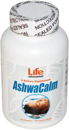 AshwaCalm, 300 mg, 120 Capsules by Life Enhancement, 草藥,ashwagandha withania somnifera,ashwagandha,健康,抗壓力 HK 香港
