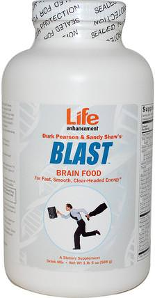 Blast Brain Food, 1 lb (589 g) by Life Enhancement, 健康,注意力缺陷障礙,添加,adhd,腦 HK 香港