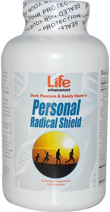 Durk Pearson & Sandy Shaws, Personal Radical Shield, 336 Capsules by Life Enhancement, 補充劑,抗氧化劑,多種維生素 HK 香港