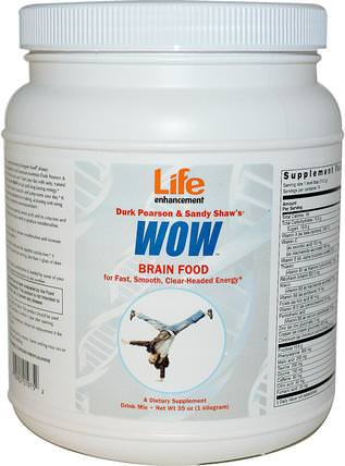 Durk Pearson & Sandy Shaws, WOW, 35 oz (1 Kilogram) by Life Enhancement, 健康,注意力缺陷障礙,添加,adhd,腦 HK 香港