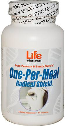 Life Enhancement, One-Per-Meal Radical Shield, 84 Capsules 維生素,多種維生素