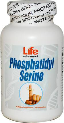 Phosphatidyl Serine, 90 Capsules by Life Enhancement, 健康,注意力缺陷障礙,添加,adhd,大腦,記憶 HK 香港