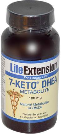 7-Keto DHEA, Metabolite, 100 mg, 60 Veggie Caps by Life Extension, 補品,7-酮,健康,飲食 HK 香港