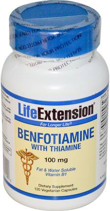 Benfotiamine, with Thiamine, 100 mg, 120 Veggie Caps by Life Extension, 健康,血糖,補充劑,benfotiamine HK 香港