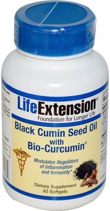 Black Cumin Seed Oil With Bio-Curcumin, 60 Softgels by Life Extension, 補充劑,抗氧化劑,薑黃素,健康,炎症 HK 香港
