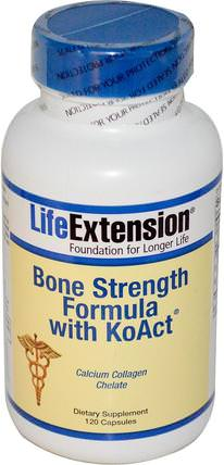 Bone Strength Formula With KoAct, 120 Capsules by Life Extension, 補品,礦物質,骨骼,骨質疏鬆症 HK 香港