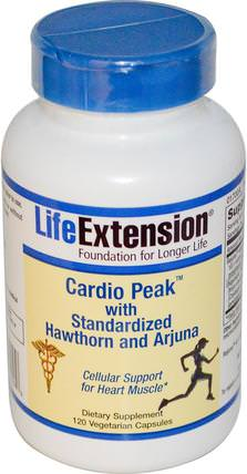 Cardio Peak with Standardized Hawthorn and Arjuna, 120 Veggie Caps by Life Extension, 健康,心臟心血管健康,心臟支持,草藥,arjuna HK 香港