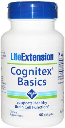 Cognitex Basics, 60 Softgels by Life Extension, 健康,注意力缺陷障礙,添加,adhd,腦 HK 香港