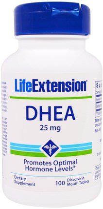 DHEA, 25 mg, 100 Dissolve in Mouth Tablets by Life Extension, 補品,dhea,健康 HK 香港
