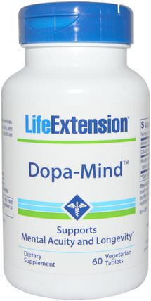 Dopa-Mind, 60 Veggie Tablets by Life Extension, 健康,注意力缺陷障礙,添加,adhd,腦 HK 香港