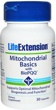 Mitochondrial Basics, with BioPQQ, 30 Capsules by Life Extension, 補充劑,抗氧化劑,α硫辛酸,硫辛酸,牛磺酸 HK 香港