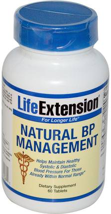 Natural BP Management, 60 Tablets by Life Extension, 健康,血壓 HK 香港
