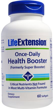 Once Daily Health Booster, 60 Softgels by Life Extension, 維生素,多種維生素 HK 香港