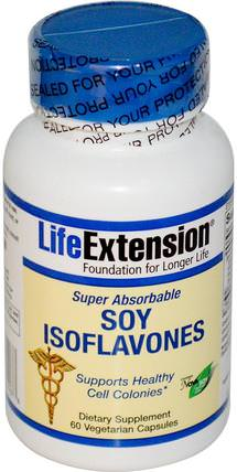 Soy Isoflavones, Super Absorbable, 60 Veggie Caps by Life Extension, 健康,豆製品 HK 香港