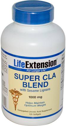 Super CLA Blend, with Sesame Lignans, 1000 mg, 120 Softgels by Life Extension, 健康,飲食 HK 香港