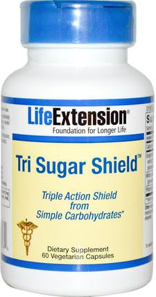 Tri Sugar Shield, 60 Veggie Caps by Life Extension, 健康,血糖 HK 香港