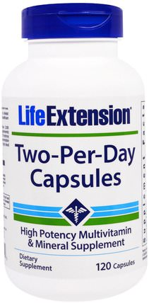 Two-Per-Day Capsules, 120 Capsules by Life Extension, 維生素,多種維生素,礦物質 HK 香港