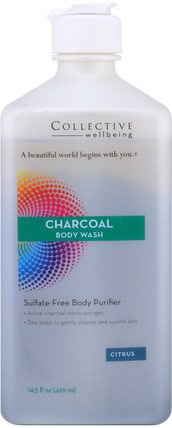 Charcoal Body Wash, Sulfate-Free Body Purifier, Citrus, 14.5 fl oz (429 ml) by Life Flo Health, 洗澡,美女 HK 香港