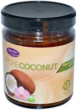 Organic Pure Coconut Oil, Skin Care, 9 fl oz (266 ml) by Life Flo Health, 沐浴,美容,椰子油皮 HK 香港