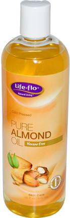 Pure Almond Oil, Skin Care, 16 fl oz (473 ml) by Life Flo Health, 健康,皮膚,杏仁油外用,按摩油 HK 香港