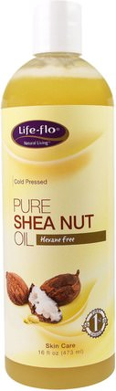 Pure Shea Nut Oil, 16 fl oz (473 ml) by Life Flo Health, 健康,皮膚,沐浴,美容油,身體護理油 HK 香港