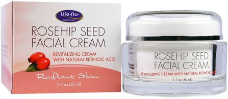 Rosehip Seed Facial Cream, 1.7 oz (50 ml) by Life Flo Health, 美容,面部護理,面霜乳液,精華素,皮膚類型抗衰老皮膚 HK 香港