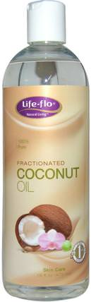 Skin Care, Fractionated Coconut Oil, 16 fl oz (473 ml) by Life Flo Health, 沐浴,美容,椰子油皮 HK 香港