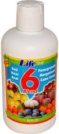 Life Time, 6 Blend Fruit Juice, 32 fl oz 食品,咖啡茶和飲料,果汁
