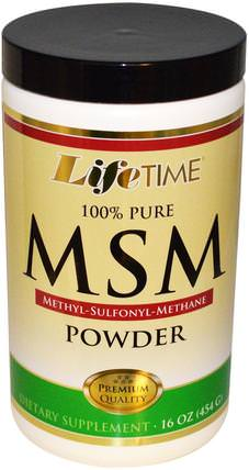 MSM Powder, 16 oz (454 g) by Life Time, 補品,礦物質,關節炎 HK 香港