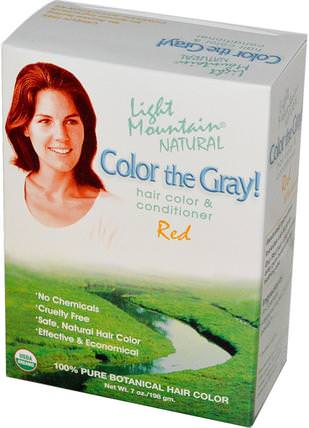 Color The Gray! Natural Hair Color & Conditioner, Red, 7 oz (198 g) by Light Mountain, 健康 HK 香港