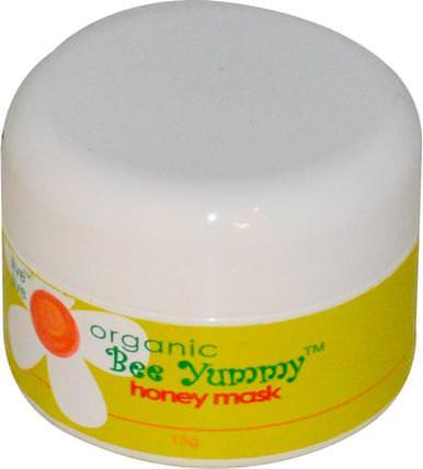 Live Live & Organic Bee Yummy, Honey Mask, 15 g 美容,面膜,糖,水果面膜