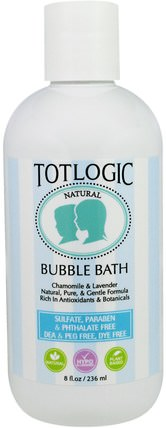 TotLogic, Bubble Bath, Original Scent, 8 fl oz (236 ml) by Logic Products, 洗澡,美容,泡泡浴 HK 香港