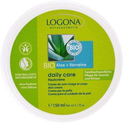 Logona Naturkosmetik, Daily Care, Skin Cream, Aloe & Verveine, 5.1 oz (150 ml) 健康,女性,皮膚