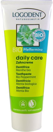Toothpaste, Bio Peppermint, 2.5 fl oz (75 ml) by Logona Naturkosmetik, 洗澡,美容,身體護理,牙膏 HK 香港