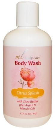 Body Wash, Citrus Splash, Cleansing with Argan & Marula Oils + Shea Butter, 8.7 fl. oz. (257 mL) by Madre Labs, 洗澡,美容,摩洛哥堅果浴,馬德雷實驗室身體護理 HK 香港