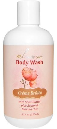 Body Wash, Crme Brulee, Cleansing with Argan & Marula Oils + Shea Butter, 8.7 fl oz (257 ml) by Madre Labs, 洗澡,美容,摩洛哥堅果浴,馬德雷實驗室身體護理 HK 香港