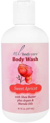 Body Wash, Sweet Apricot, Cleansing with Argan & Marula Oils + Shea Butter, 8.7 fl. oz. (257 mL) by Madre Labs, 洗澡,美容,摩洛哥堅果浴,馬德雷實驗室身體護理 HK 香港