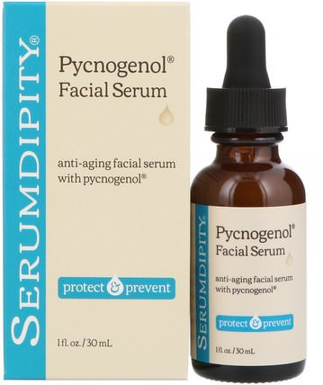 Pycnogenol Facial Serum, 1 fl oz (30 ml) by Madre Labs, 美容,健康,女性,madre labs serumdipity HK 香港
