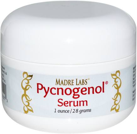 Pycnogenol Serum (Cream), Soothing and Anti-Aging, 1 oz. (28 g) by Madre Labs, madre labs面部護理,抗衰老 HK 香港