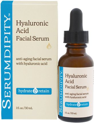 Serumdipity, Hyaluronic Acid Facial Serum, Hydrating Skin Care, 1 fl. oz. (30 mL) by Madre Labs, madre labs面部護理,美容,透明質酸皮膚 HK 香港