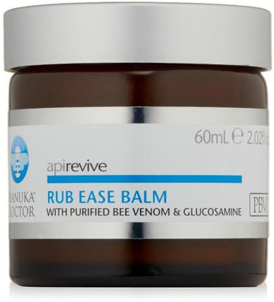 Apirevive, Rub Ease Balm, 2.02 fl oz (60 ml) by Manuka Doctor, 健康,皮膚,身體黃油,美容,面部護理,麥盧卡蜂蜜護膚 HK 香港