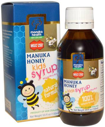 Manuka Honey Kids Syrup, MGO 250+, 3.5 fl oz (100 ml) by Manuka Health, 兒童健康,感冒感冒咳嗽 HK 香港