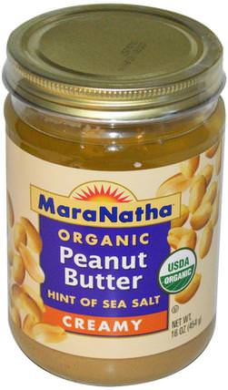 Organic Peanut Butter, Creamy, 16 oz (454 g) by MaraNatha, 食物,花生醬 HK 香港